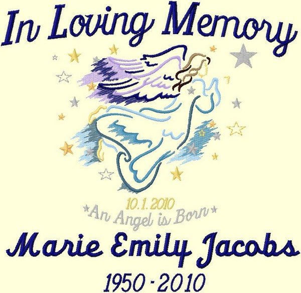 In Loving Memory Throw Angel Personalized 3 Lines Custom Text