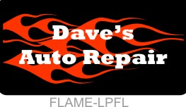 Personalized License Plate Flames Men