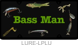 Personalized License Plate Fishing Bass