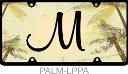 Personalized License Plate Palm Trees Tropical