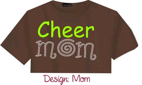 Personalized Ladies & Girls Rhinestone T-Shirt Mom