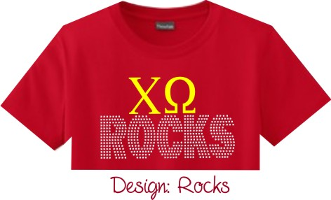 Personalized Ladies & Girls Rhinestone T-Shirt Rocks