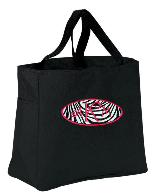Personalized Zebra Tote Bag-20 Colors