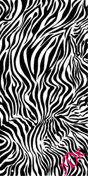 Personalized Zebra Animal Print  Beach Towel