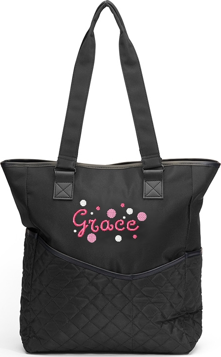 Personalized Diaper Bag Lots of Dots Messenger Boy or Girl