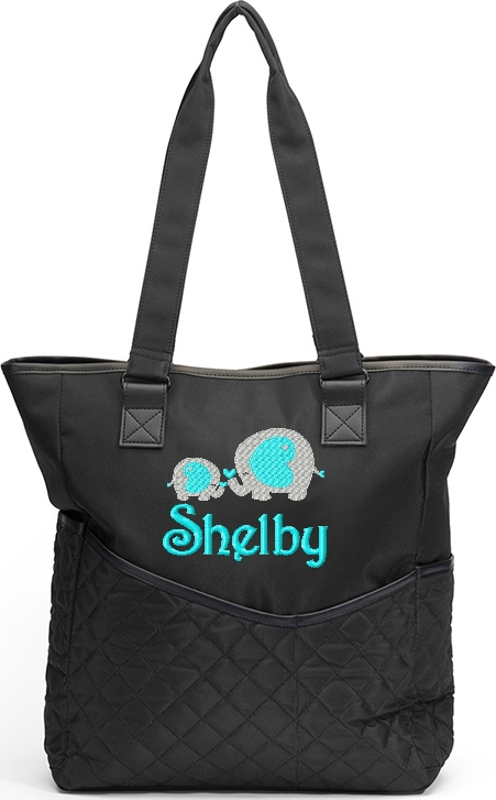 Personalized Diaper Bag Elephant Baby Mom LoveTote   Jungle Zoo Safari Monogram