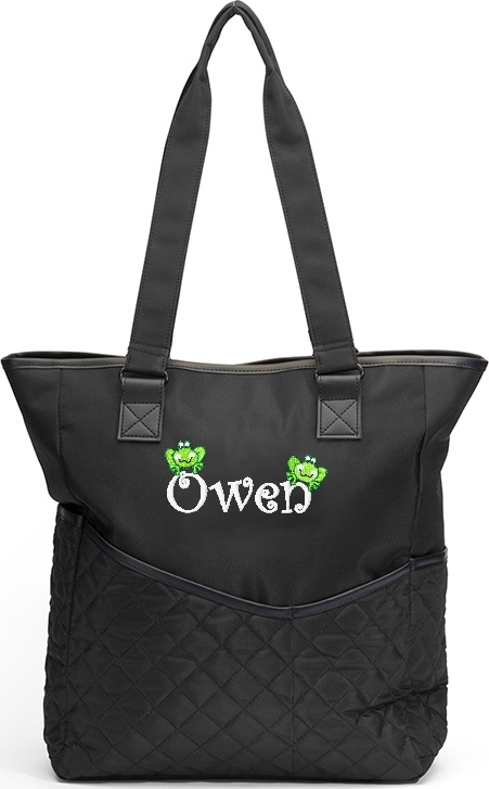 Personalized Diaper Bag Froggies  Frog