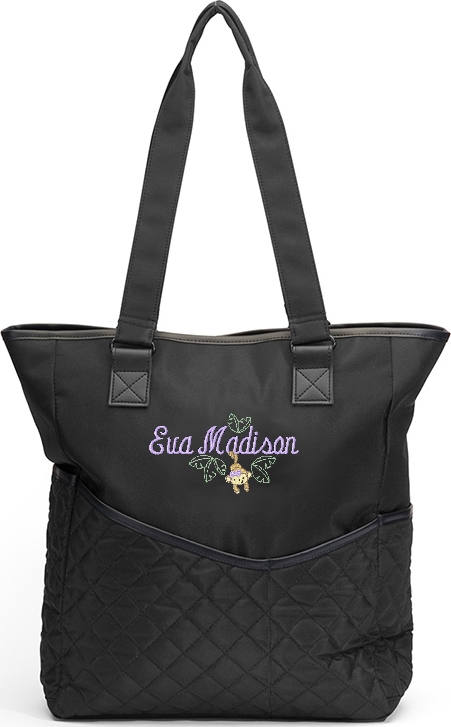 Personalized Diaper Bag Monkey Tote  Girl Jungle Zoo Safari Monogram