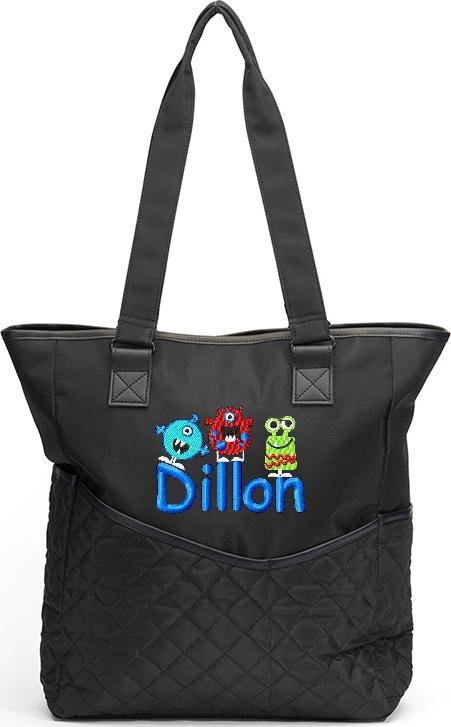 Personalized Diaper Bag Cute Monsters