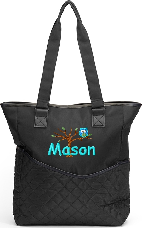Personalized Diaper Bag Owl Tree Boy Messenger