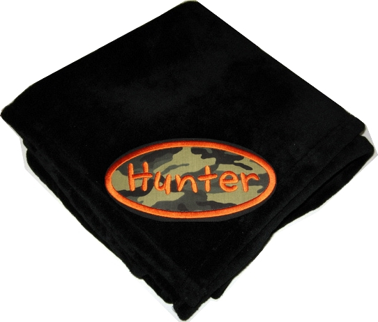 Personalized Plush Fleece Blanket  Camo Toddler