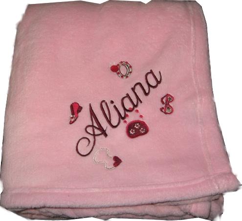 Personalized Plush Fleece Blanket  Girls Tween Lil'Diva