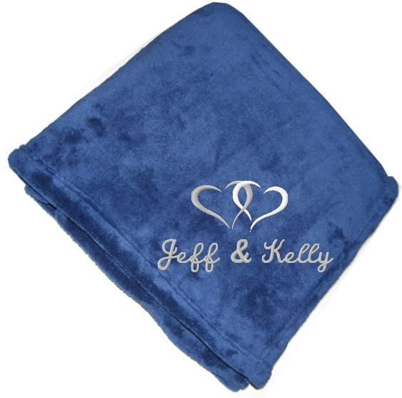 Personalized Plush Fleece Blanket  Wedding Love