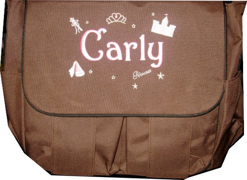 Personalized Diaper Bag  Princess Girl Messenger-Princess Diaper Bags Girl Personalized