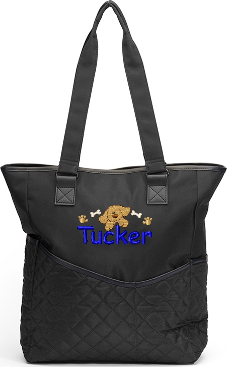 Personalized Diaper Bag Puppy Dog Tote  Boy