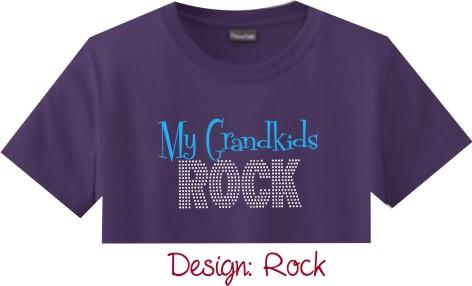 Personalized Ladies & Girls Rhinestone T-Shirt Rock