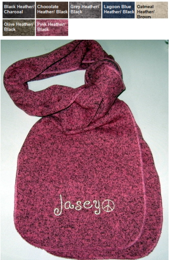 Personalized Monogram Embroidered Scarves