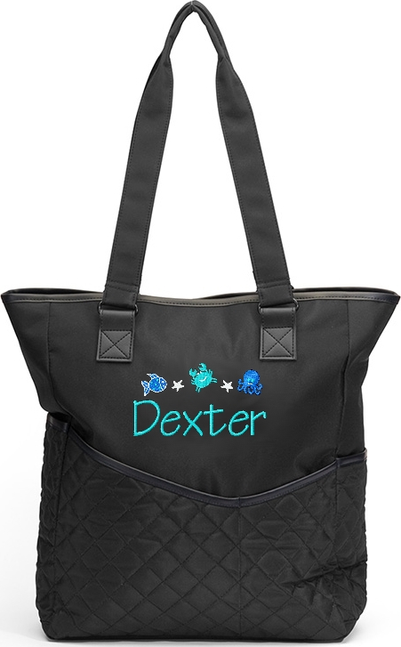 Personalized Diaper Bag  Tote  Ocean Crab  Star Fish Sea Aquariam Octopus