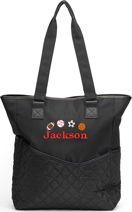 Personalized Diaper Bag Sports Tote FootBall, Basketball,  Baseball, Soccer Ball
