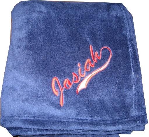 Personalized Plush Fleece Blanket  Swash Boy or Girl