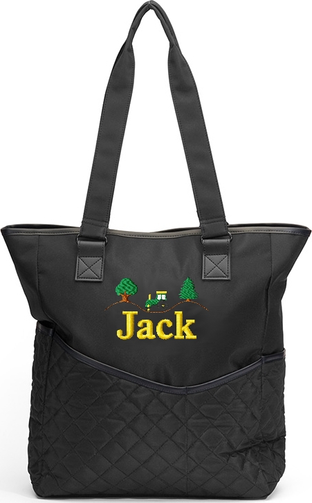 Personalized Diaper Bag Tractor Embroidered John Deere