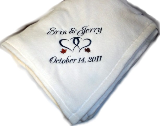 personalized plush fleece throw